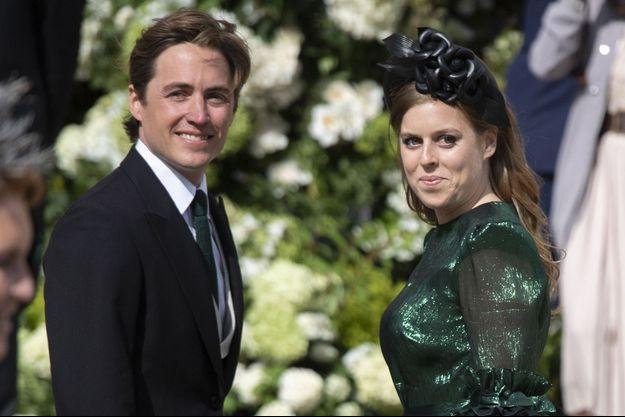 La princesse Beatrice d'York et Edoardo Mapelli Mozzi à York, le 31 août 2019