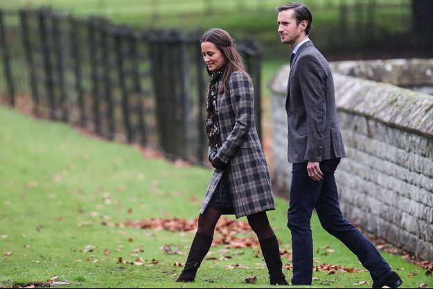 Pippa Middleton et James Mathews arrivent à l'église St Marks, en décembre 2016.