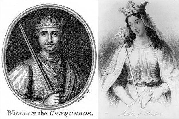 Gravures figurant Guillaume le Conquérant et Mathilde de Flandre
