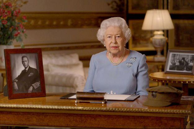 La reine Elizabeth II lors de son discours diffusé le 8 mai 2020
