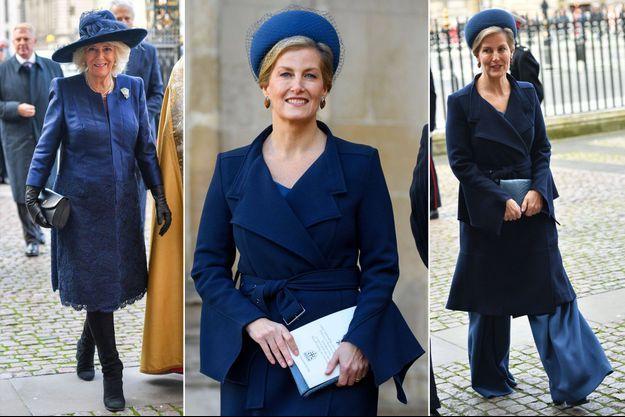 Camilla Parker-Bowles, duchesse de Cornouailles, et la comtesse Sophie de Wessex à Londres, le 11 décembre 2019