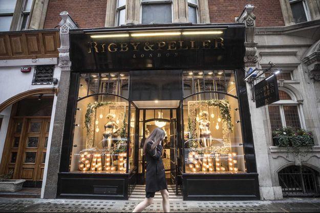 Le magasin Rigby and Peller, dnas le quartier de Knightsbridge, à Londres.