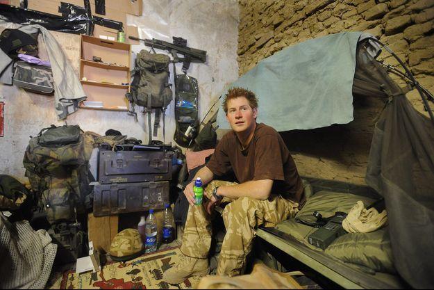 Le prince Harry lors d'une mission en janvier 2008 en Afghanistan.