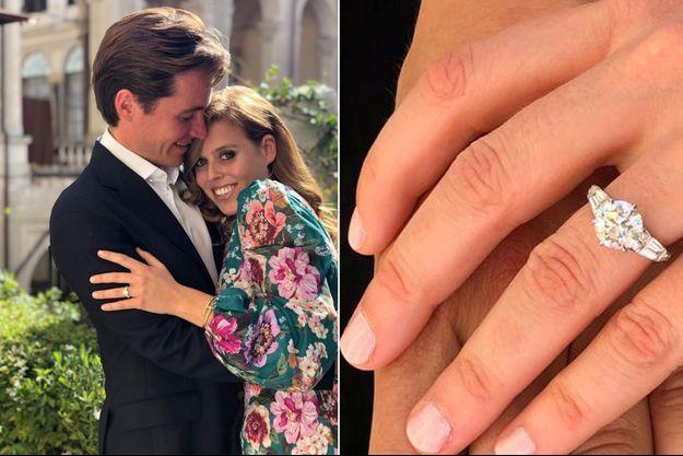 La bague de fiançailles offerte par Edoardo Mapelli Mozzi à la princesse Beatrice d'York, en septembre 2019