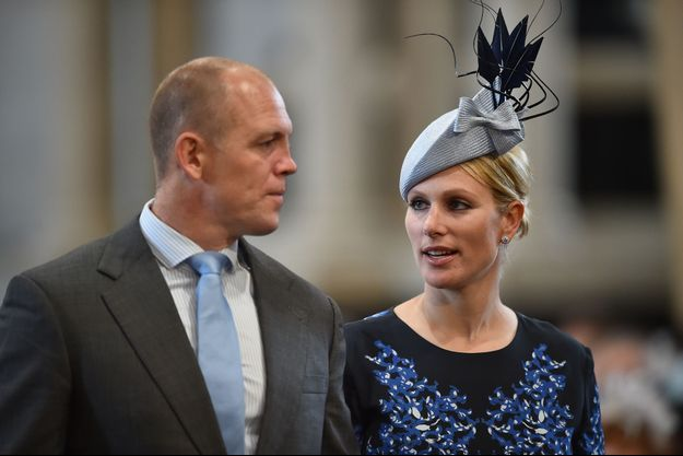 Zara Phillips et son mari Mike Tindall à Londres, le 10 juin 2016