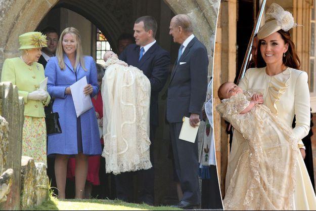 Baptême de Savannah Phillips le 23 avril 2011 et du prince George de Cambridge le 23 octobre 2013