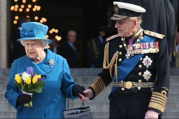 La reine Elizabeth II et le prince Philip, le 13 mars 2015