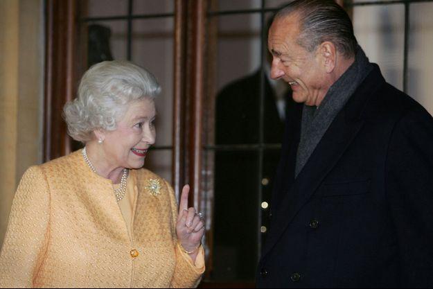 La reine Elizabeth II et Jacques Chirac à Windsor, le 19 novembre 2004