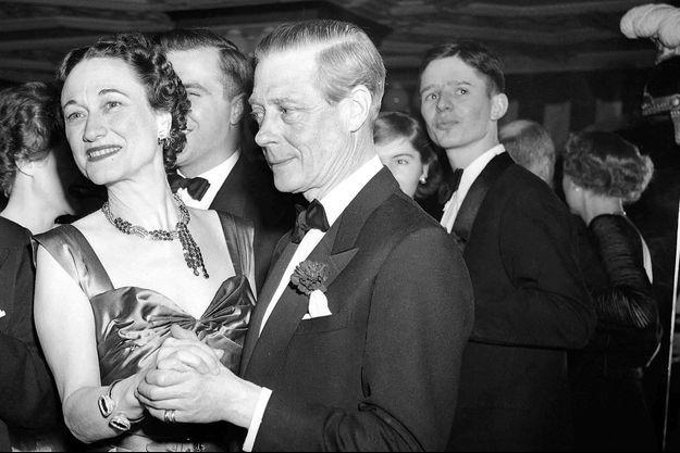 Le duc et la duchesse de Windsor (Wallis Simpson) à New York, le 31 décembre 1949