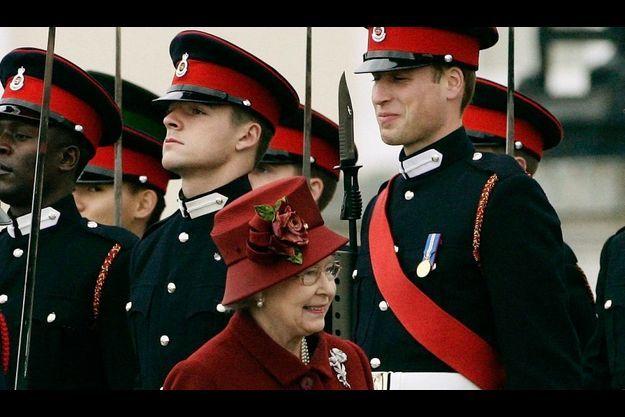 Elizabeth et William en 2006, à Sandhurst.