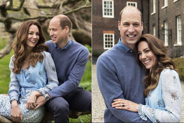 William et Kate ont partagé mercredi soir deux nouvelles photos pour célébrer leurs dix ans de mariage.
