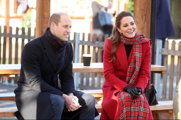 Le prince William et Kate Middleton au Pays de Galles en décembre 2020