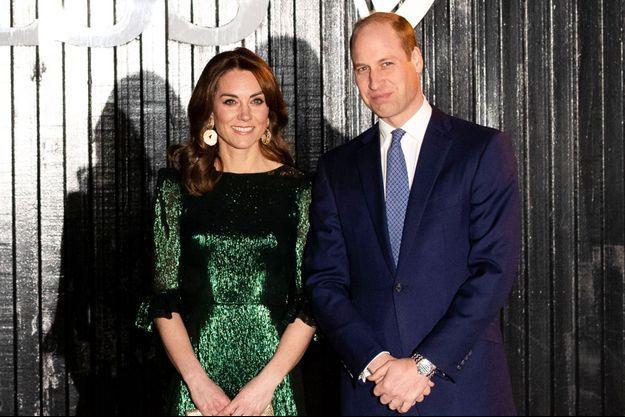 Kate Middleton et le prince William à Dublin en mars 2020
