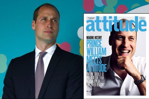 "Le prince William (ici le 12 juin 2016) fait la une du magazine gay britannique ""Attitude"""