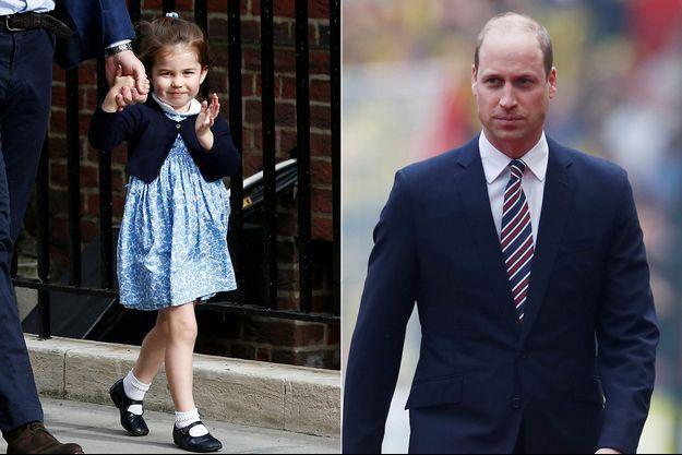 Charlotte de Cambridge et le prince William