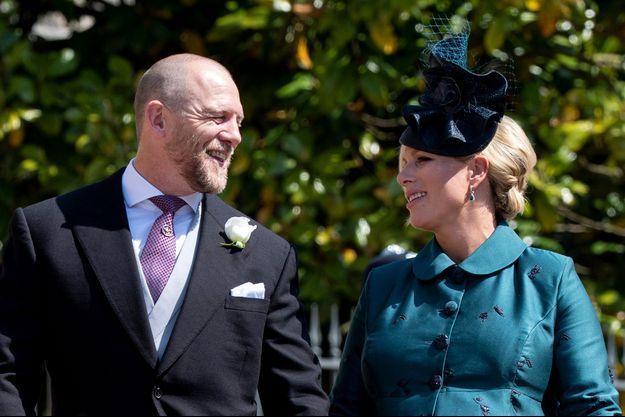 Zara Phillips et son mari Mike Tindall au mariage du prince Harry et de Meghan Markle à Windsor, le 19 mai 2018