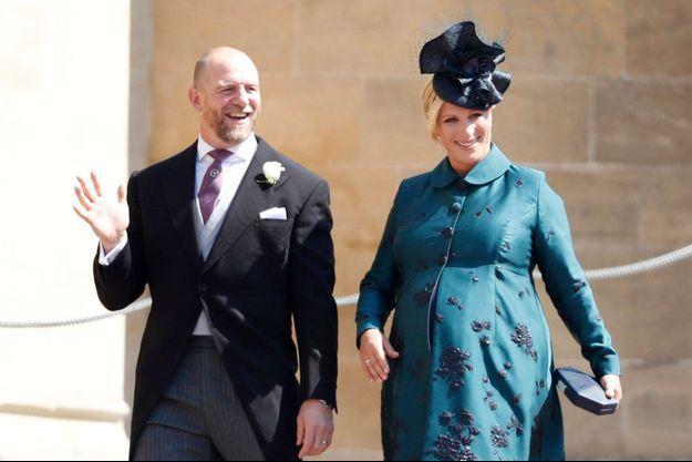 Zara Phillips et Mike Tindall au mariage du prince Harry et de Meghan Markle à Windsor, le 19 mai 2018