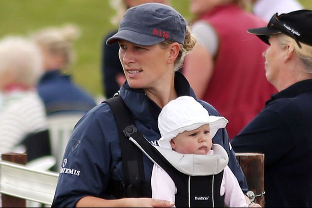 Zarah Philips et sa fille Mia, le 5 juillet 2014