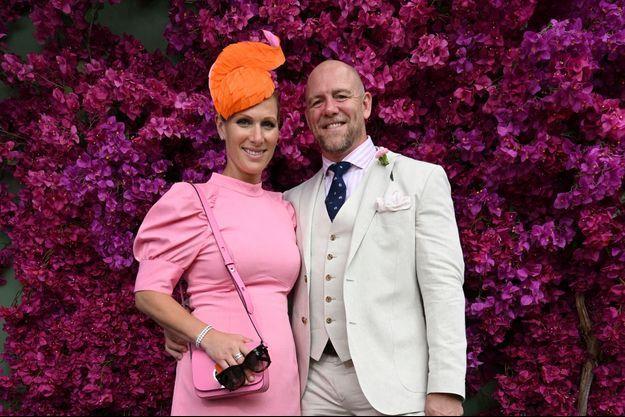 Zara Phillips et son mari Mike Tindall à Gold Coast en Australie, le 11 janvier 2020