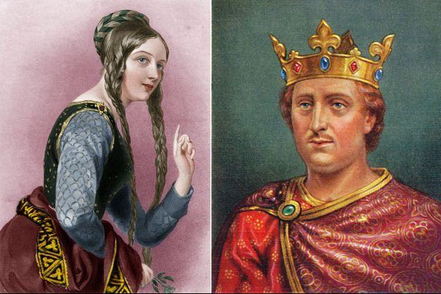 Représentation d'Aliénor d'Aquitaine et du roi Henri II d'Angleterre (artistes inconnus)