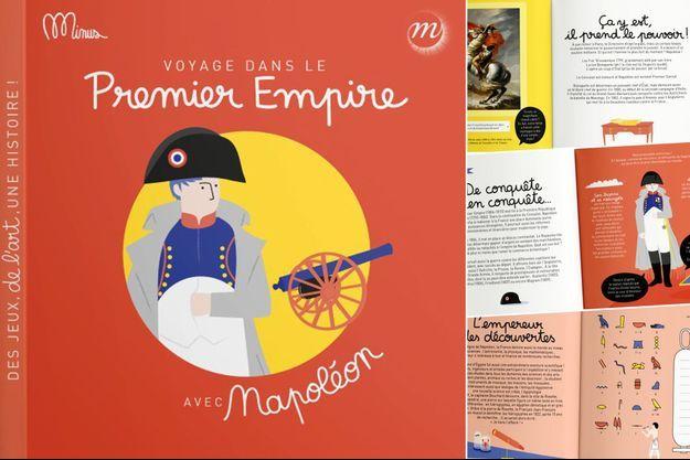 """Cahier d'activités """"Voyage dans le Premier Empire avec Napoléon"""", publié par Minus Editions en partenariat avec la RMN"""