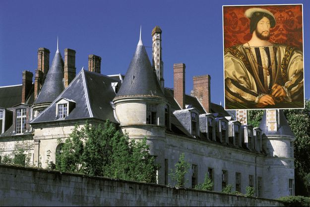 Le château de Villers-Cotterêts en 2008 – En vignette : portrait de François Ier par Clouet (Musée du Louvre)