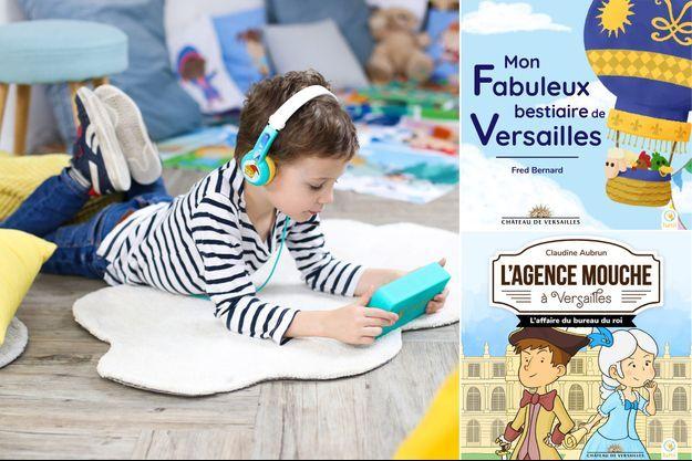 """Deux nouvelles collections de livres audio sur le château de Versailles à écouter avec """"Ma Fabrique à Histoires"""", un petit appareil conçu pour les enfants par Lunii"""