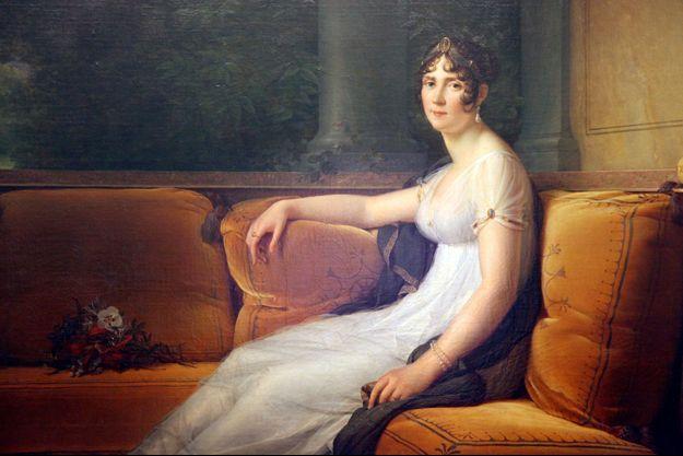 Détail du portrait de Joséphine en 1801 par Gérard (Musée de l'Ermitage – Saint-Pétersbourg)