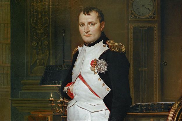 Portrait de l'empereur Napoléon Ier par Jacques-Louis David (détail) (National Gallery, Washington)