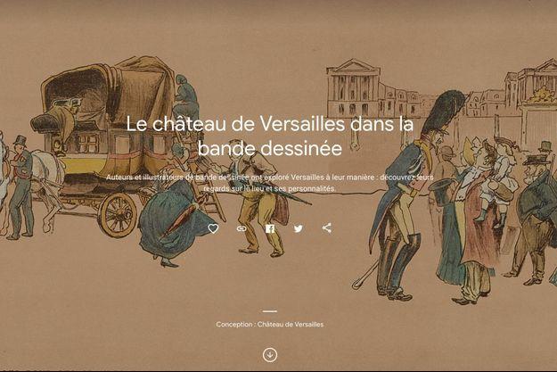 """Présentation de l'exposition virtuelle """"Le château de Versailles dans la bande dessinée"""""""