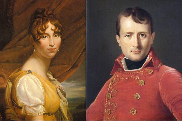 Hortense de Beauharnais par François Gérard en 1802 - Napoléon Bonaparte par Laurent Dabos en 1804