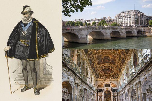 Henri IV a achevé la construction du pont Neuf à Paris et réaménagé la chapelle de la Trinité au château de Fontainebleau