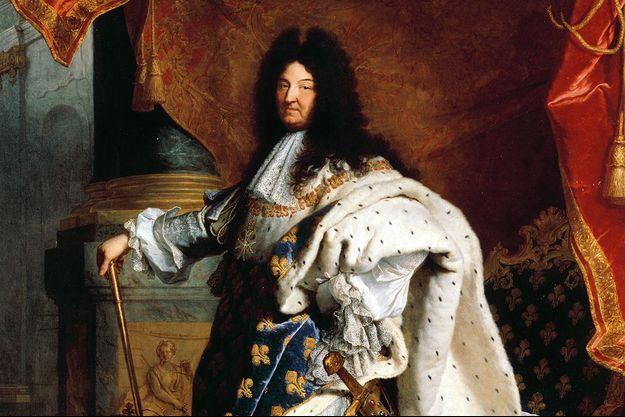 Détail du portrait de Louis XIV par Hyacinthe Rigaud