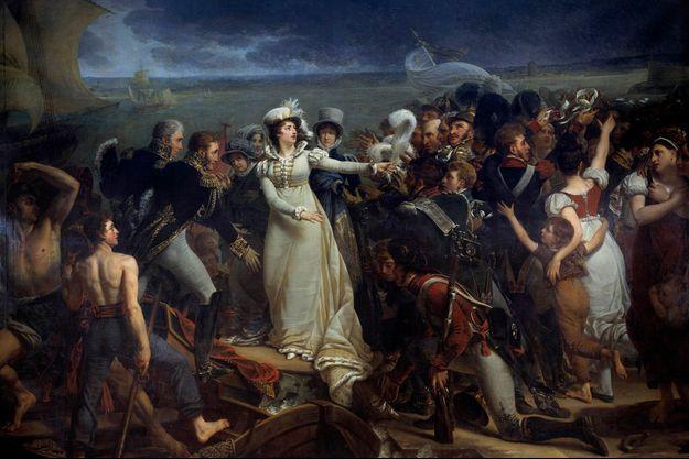 «Embarquement de la duchesse d'Angoulême à Pauillac», par Antoine-Jean Gros, 1818 (musée des Beaux-Arts de Bordeaux)