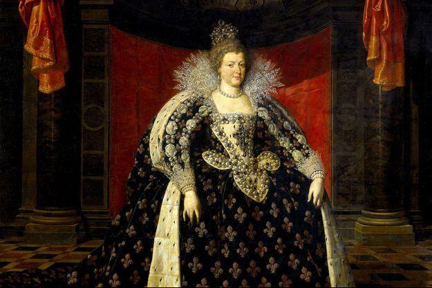 Détail du portrait de Marie de Médicis par Frans Pourbus II