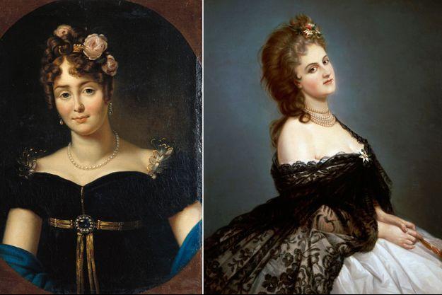 Portrait de Marie Walewska par Francois Gerad - Portrait de Virginia Oldoini Verasis, comtesse de Castiglione (Musée national du château de Compiègne)