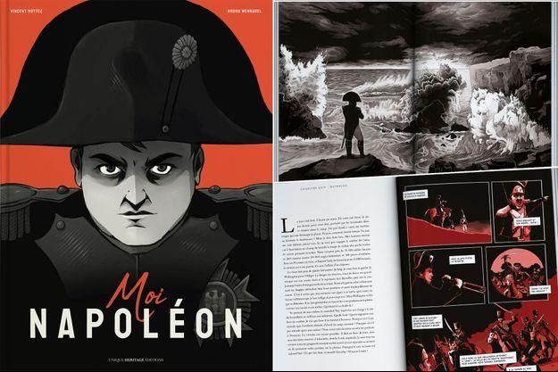 """""""Moi Napoléon"""", roman graphique sur l'Empereur avec un texte de Vincent Mottez et des illustrations de Bruno Wennagel"""