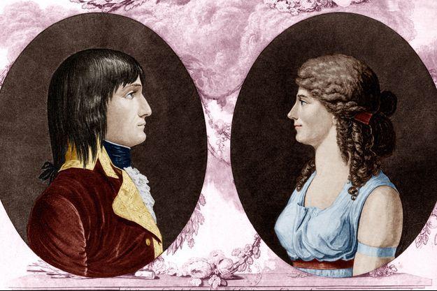 Illustration figurant Napoléon Bonaparte et Joséphine de Beauharnais
