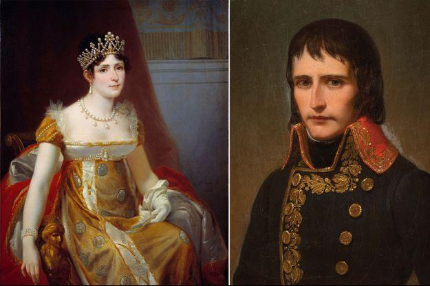 Portrait de Joséphine de Beauharnais par Hector Viger (Château de Malamaison) - Portrait du général Bonaparte vers 1800 (collection privée)