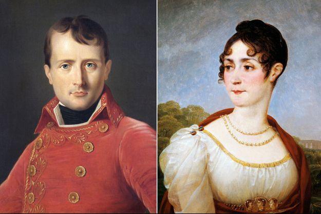 Portraits de Napoléon par Dabos (Apsley House, London) et de Joséphine par Gros (Musée national du Château de Malmaison)