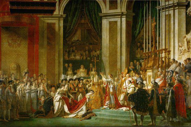 Le sacre de Napoléon, par Jacques-Louis David (Musée du Louvre, Paris)
