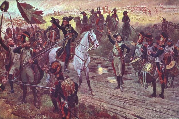 Napoléon Bonaparte saluant ses soldats lors de la bataille de Marengo (Paris, Fondation Napoléon)