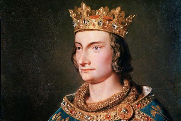 Détail d'un portrait de Philippe IV le Bel (anonyme, XIXe siècle), conservé au château de Versailles