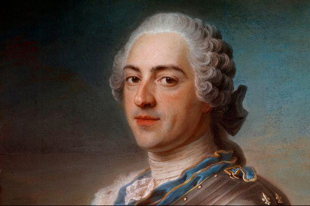 Louis XV. Détail du portrait de Quentin de La Tour (Musée du Louvre)