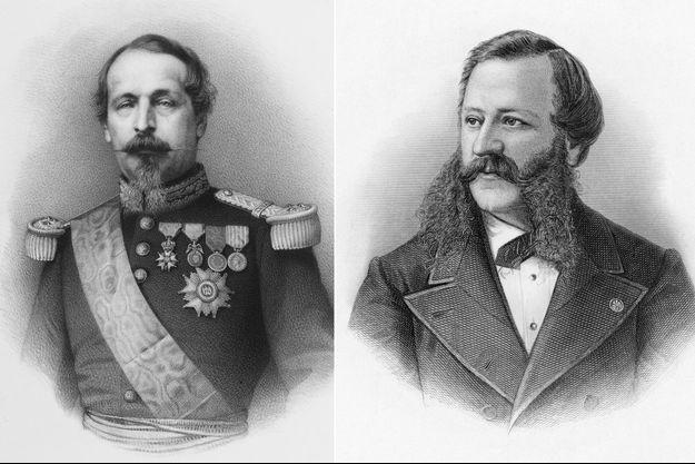 Gravures figurant l'empereur Napoléon III et Thomas W. Evans