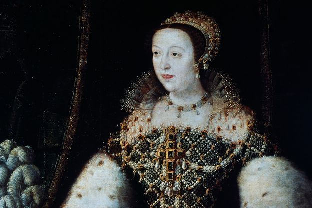 Détail d'un portrait de Catherine de Médicis (Florence, Galerie des Offices)