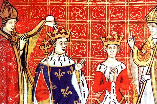 Couronnement de Louis VIII et Blanche de Castille (détail)