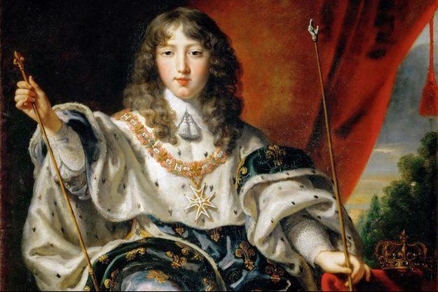 Le roi Louis XIV en costume de couronnement par Justus van Egmont (détail) (Ambras Castle, Innsbruck)