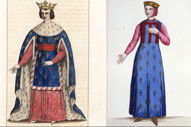 Louis X et Mahaut d'Artois (gravures du XIXe siècle)