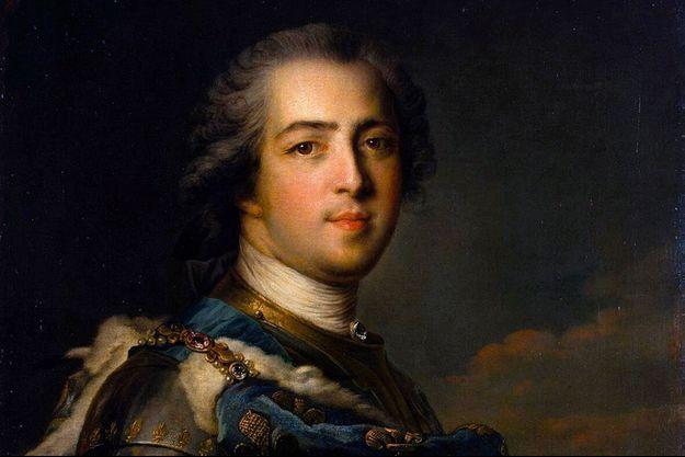 Portrait de Louis XV (détail), par Jean-Marc Nattier, 1745 (Musée de l'Ermitage, Saint-Pétersbourg)